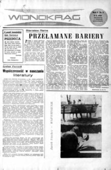Widnokrąg : tygodnik kulturalny. 1961, nr 2 (8 października)