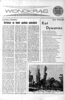 Widnokrąg : tygodnik kulturalny. 1961, nr 5 (29 października)