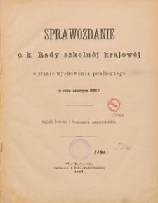 Sprawozdanie c. k. Rady szkolnej krajowej o stanie wychowania publicznego w roku szkolnym 1886/1887