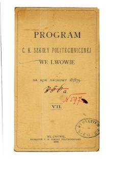 Program C. K. Szkoły Politechnicznej we Lwowie na rok naukowy 1878/79
