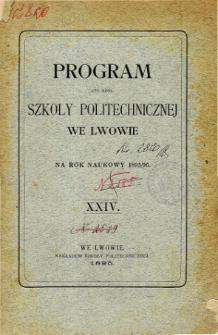 Program C. K. Szkoły Politechnicznej we Lwowie na rok naukowy 1895/96