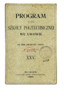 Program C. K. Szkoły Politechnicznej we Lwowie na rok naukowy 1896/97