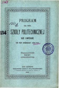 Program C. K. Szkoły Politechnicznej we Lwowie na rok naukowy 1906/1907