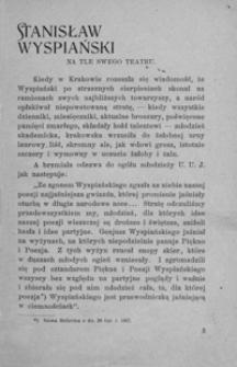 Stanisław Wyspiański na tle swego teatru