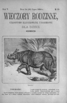 Wieczory Rodzinne: czasopismo illustrowane tygodniowe dla dzieci. 1884, R. 5, nr 30 (14 (26) lipca)
