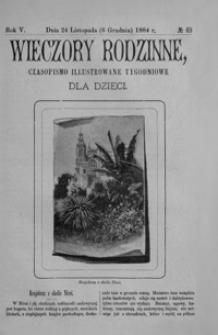 Wieczory Rodzinne: czasopismo illustrowane tygodniowe dla dzieci. 1884, R. 5, nr 49 (24 listopada (6 grudnia))
