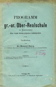 Programm der Gr.-Or. Ober-Realschule in Czernowitz fur das Schuljahr 1892/93