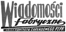 Wiadomości Fabryczne : organ Komitetu Zakładowego Polskiej Zjednoczonej Partii Robotniczej. 1957, R. 6, nr 8 (1-31 maja)