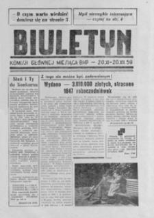 Biuletyn Komisji Głównej miesiąca BHP 20 XI-20 XII 59