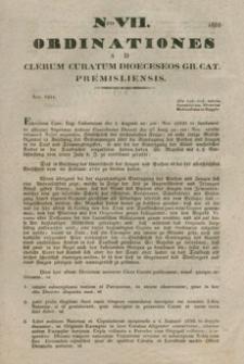 Ordinationes Ad Clerum Curatum Dioeceseos Gr. Cat. Premisliensis. Nro VII