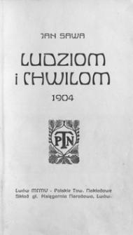 Ludziom i chwilom : 1904 : poezje