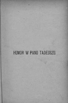Humor w Panu Tadeuszu : szkic estetyczny