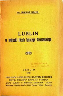 Lublin w Twórczości Józefa Ignacego Kraszewskiego