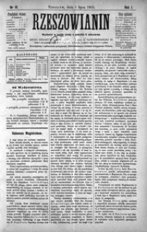 Rzeszowianin. 1903, R. 1, nr 19-23 (lipiec)