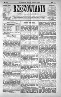 Rzeszowianin. 1903, R. 1, nr 24-27 (sierpień)