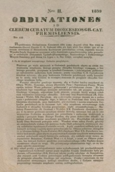 Ordinationes Ad Clerum Curatum Dioeceseos Gr. Cat. Premisliensis. Nro II