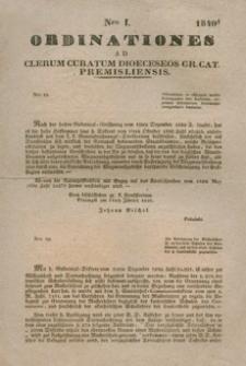 Ordinationes Ad Clerum Curatum Dioeceseos Gr. Cat. Premisliensis. Nro I