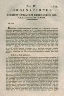 Ordinationes Ad Clerum Curatum Dioeceseos Gr. Cat. Premisliensis. Nro IV