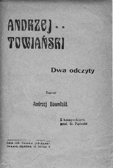 Andrzej Towiański : dwa odczyty