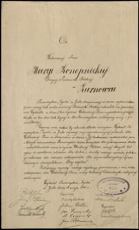 """[List Towarzystwa """"Zgoda"""" w Jaśle do Marii Konopnickiej w Żarnowcu]"""