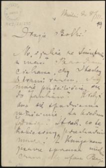 [List Marii Konopnickiej do Zofii i Bolesława Królikowskich, 8.03.1899]