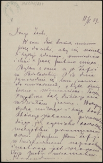[List Marii Konopnickiej do córki Zofii, 15.05.1899]