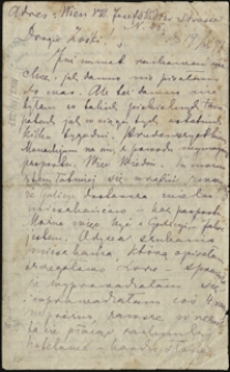 [List Marii Konopnickiej do Zofii i Bolesława Królikowskich, 19.10.1897]