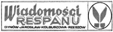 Wiadomości Respanu : Dynów - Jarosław - Kolbuszowa - Rzeszów