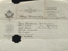 Telegram od dzieci dla Marii Konopnickiej