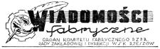 Wiadomości Fabryczne : organ Komitetu Fabrycznego PZPR, Rady Zakładowej i Dyrekcji WSK Rzeszów. 1953, R. 2, nr 11 (28 sierpnia)