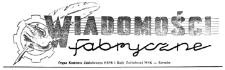 Wiadomości Fabryczne : organ Komitetu Zakładowego PZPR i Rady Zakładowej WSK - Rzeszów. 1955, R. 4, nr 18 (17 listopada)