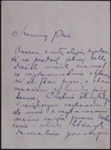[List Marii Konopnickiej do Józefa Wiśniowskiego, 20.03.1905]