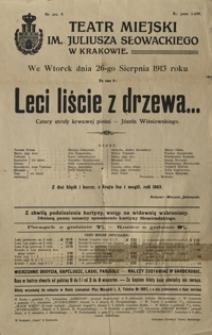 Leci liście z drzewa… : cztery strofy krwawej pieśni - Józefa Wiśniowskiego