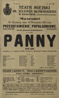 Panny (Les Lys) : komedya w 4 aktach Wolffa i Leroux'a, tłumaczył Gustaw Olechowski