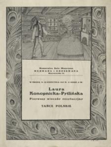 Laura Konopnicka Pytlińska : pierwszy wieczór recytacyjny tańce polskie