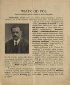 Wiatr od pól : jedna z najbliższych premjer polskich w teatrze krakowskim