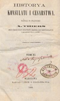Historya konsulatu i cesarstwa T. 11