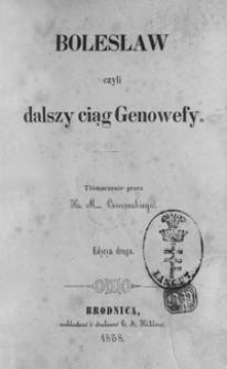 Bolesław czyli dalszy ciąg Genowefy