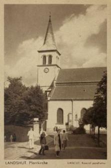 Łańcut : Kościół parafialny = Landschut Pfarrkirche [Fotowidokówka]