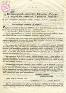"""Do Szanownych Abonentów dziennika """"Polska"""" i wszystkich światłych i prawych Polaków!"""