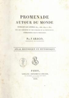 Promenade autour du monde pendant les années 1817, 1818, 1819 et 1820, sur les corvettes du Roi L'Uranie et La Physicienne, commandées par M. Freycinet