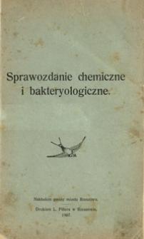 Sprawozdanie chemiczne i bakteryologiczne