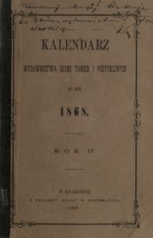 Kalendarz Wydawnictwa Dzieł Tanich i Pożytecznych na Rok 1868, R. 2
