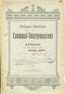 Jahres-Bericht des Communal-Untergymnasiums in Aussig fur das Schuljahr 1895/96