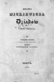 Adama Mickiewicza Dziadów część trzecia