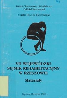 VII Wojewódzki Sejmik Rehabilitacyjny