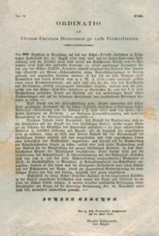 Ordinatio ad Clerum Curatum Dioeceseos gr. cath. Premisliensis. Nro II