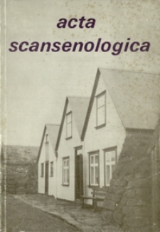 Acta Scansenologica. 1990, T. 6