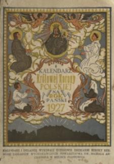 Kalendarz Królowej Korony Polskiej na Rok Pański 1927