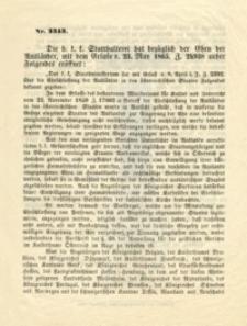 Die h. f. f. Statthalterei hat bezuglich der Ehen der Auslander, mit dem Erlase v. 23 May 1865. 24938 anher Folgendes eroffnet